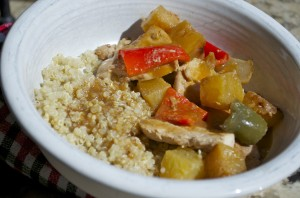 Sweet and Sour Chicken with Quinoa
