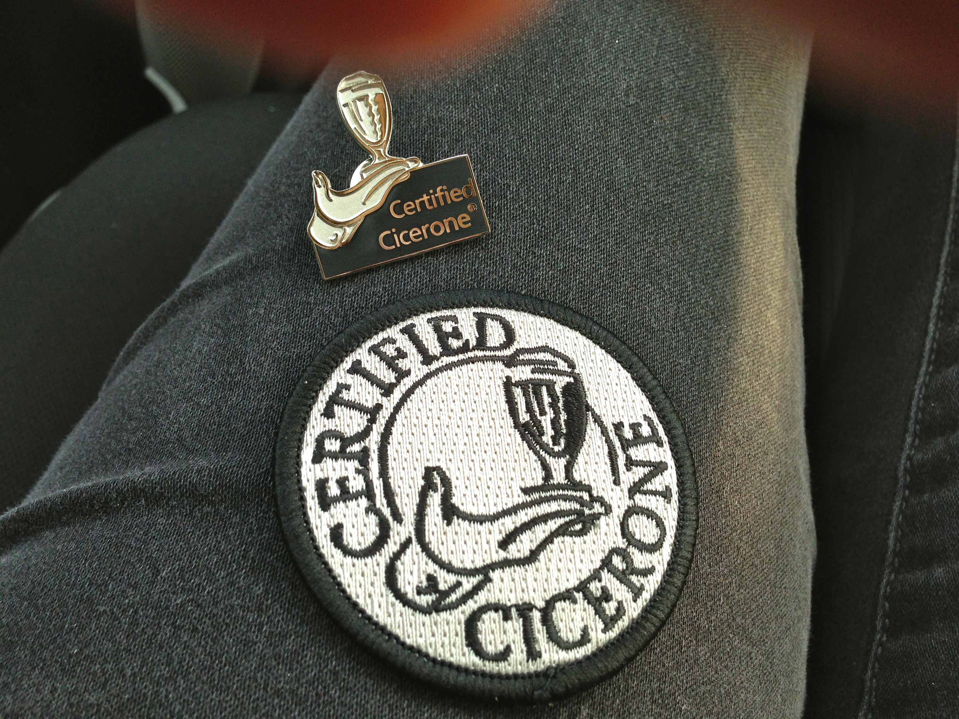 Certified cicerone bites n brews my certified cicerone pin and badge came in the mail yesterday sending me off into another frenzied hour of joy xflitez Image collections
