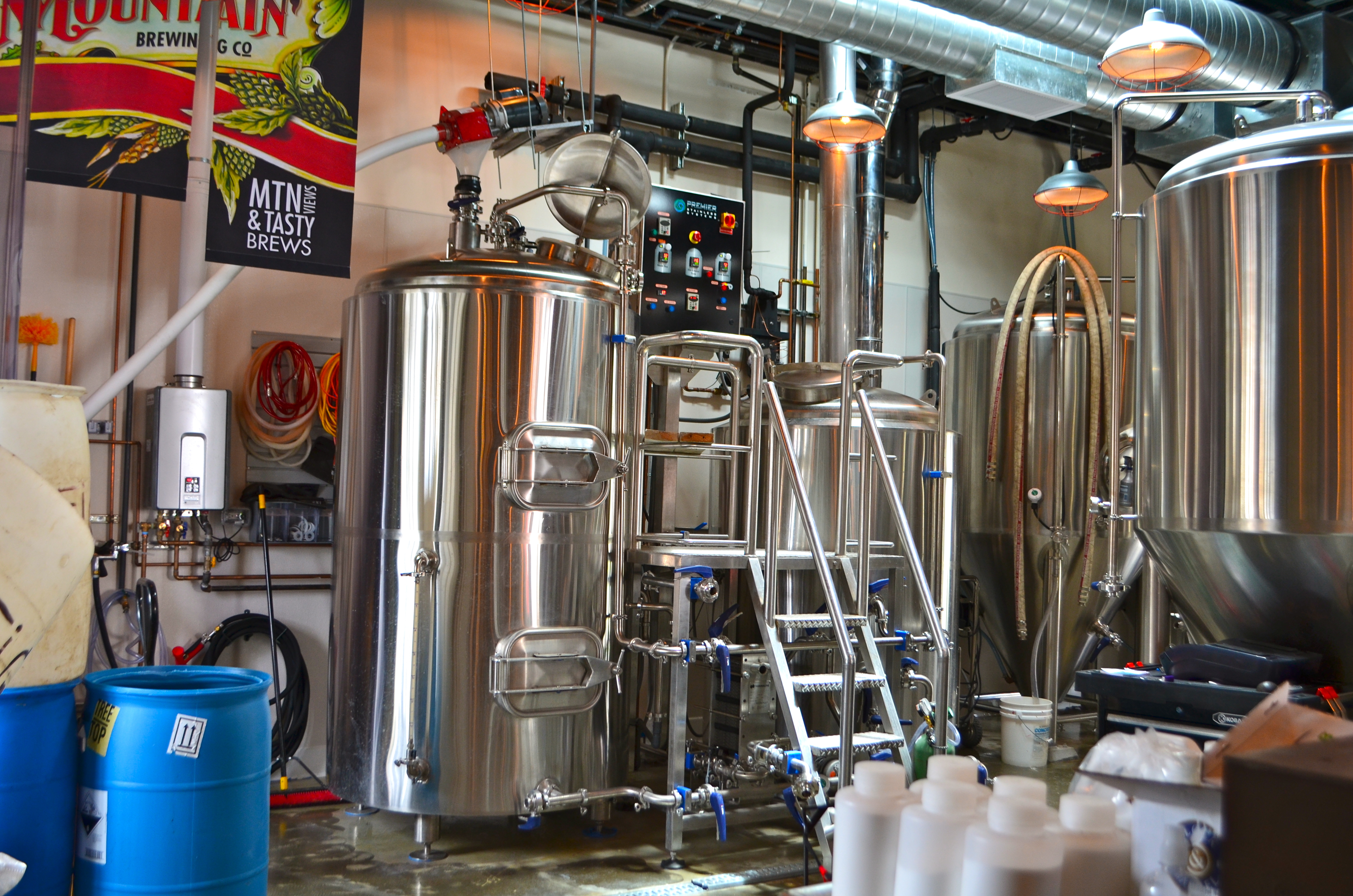 The First Thing You Get To See When Walk In Is Shiny New 7bbl System A La Premier Stainless And Handful Of 15bbl Fermentors