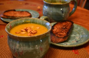 Protein-Packed Butternut Squash and Leek Soup