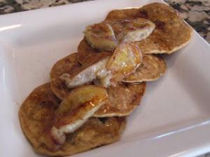 Banana Pecan Oatmeal Pancakes