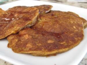 Peach Pumpkin Pie Pancakes