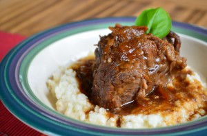 Sweet 'n Smoky Short Ribs with Cauliflower Mash