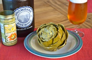 Chimichurri and Pale Ale Infused Artichoke